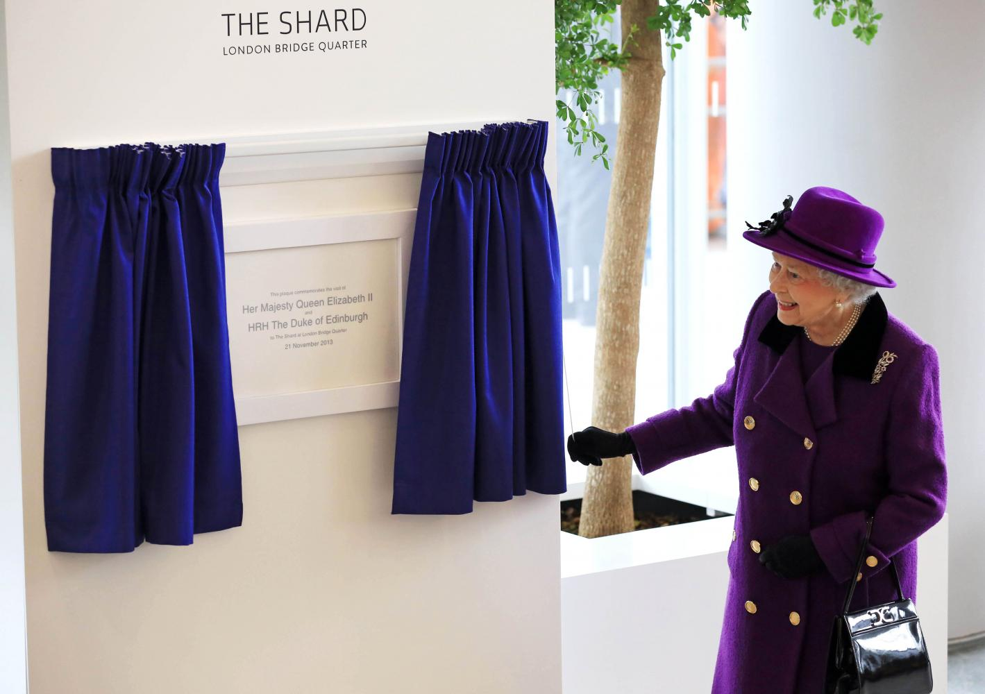 The Queen visits The Shard, London